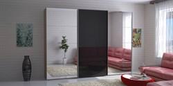 Шкаф-купе Эста 3000/2200/660 с зеркалами и черным стеклом - фото 10323