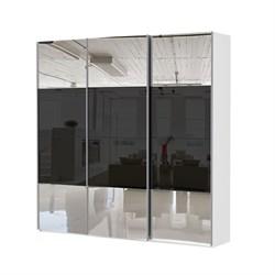 Шкаф-купе Эста 3000/2400/660 с зеркалом и чёрным стеклом - фото 10752