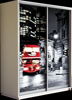 Шкаф-купе Дуо 1400/2200/600 (Фотопечать Лондон) - фото 11876