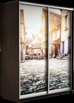 Шкаф-купе Дуо 1400/2200/600 (Фотопечать Старый город) - фото 11917