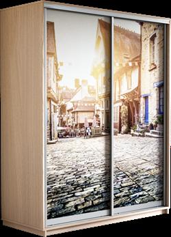 Шкаф-купе Дуо 1400/2400/600 (Фотопечать Старый город) - фото 12039