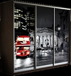 Шкаф-купе Трио 1800/2400/600 (Фотопечать Лондон) - фото 12514
