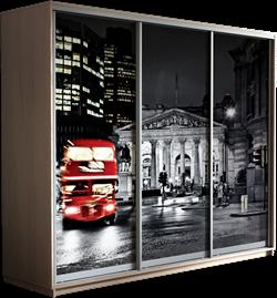 Шкаф-купе Трио 2400/2400/600 (Фотопечать Лондон) - фото 13160