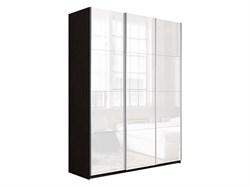 Прайм 1800/2300/570 (3 двери белое стекло) - фото 13652