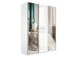 Прайм 2100/2300/570 Зеркало/Белое стекло/Зеркало - фото 13697