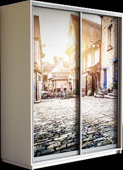 Шкаф-купе Дуо 1400/2200/450 (Фотопечать Старый Город) - фото 14842