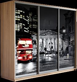 Шкаф-купе Трио 2100/2200/450 (Фотопечать Лондон) - фото 15037