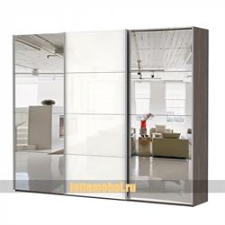 Шкаф-купе Эста 3000/2200/660 с  зеркалами и белым стеклом - фото 8047