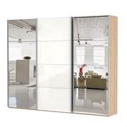 Шкаф-купе Эста 2700/2200/660 с зеркалами и белым стеклом