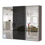 Шкаф-купе Эста 2700/2200/660 с зеркалами и черным стеклом