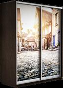 Шкаф-купе Дуо 1600/2200/600 (Фотопечать Старый город)