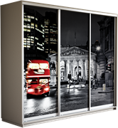Шкаф-купе Трио 2100/2200/600 (Фотопечать Лондон)