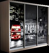 Шкаф-купе Трио 2400/2200/600 (Фотопечать Лондон)