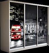 Шкаф-купе Трио 2400/2400/600 (Фотопечать Лондон)