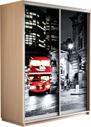 Шкаф-купе Хит 1200/2200/600 (Фотопечать Лондон)