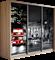 Шкаф-купе Трио 1800/2200/600 (Фотопечать Лондон) - фото 12407