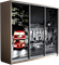 Шкаф-купе Трио 2100/2400/450 (Фотопечать Лондон) - фото 15046
