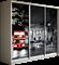 Шкаф-купе Трио 2400/2200/450 (Фотопечать Лондон) - фото 15103
